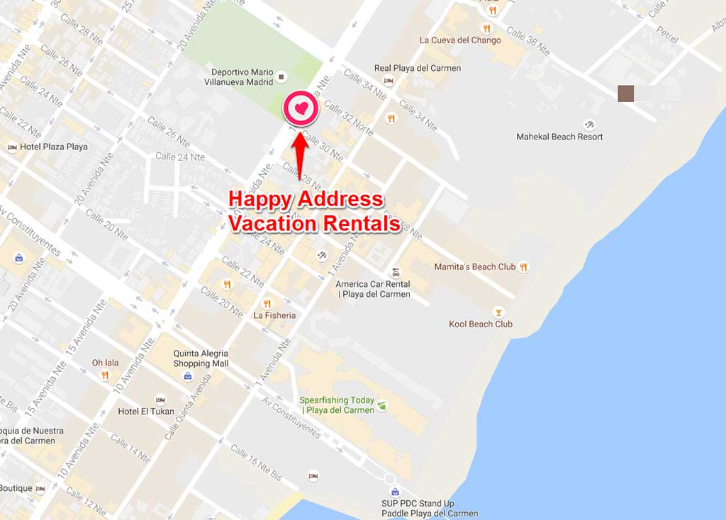 Happy Address Vacation Rentals location